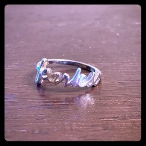 """Jewelry - Sterling 925 """"Fearless"""" Ring"""